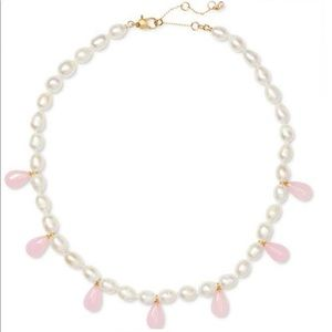 Kate Spade Freshwater Pearl, Jade Strand Necklace